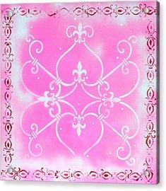 Abstract Decorative Art Original Painting Pink Fantasy By Madart Acrylic Print by Megan Duncanson
