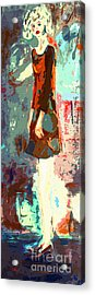 Abstract Figure The Odd Girl By Ginette Acrylic Print by Ginette Callaway