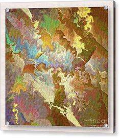 Abstract Puzzle Acrylic Print by Deborah Benoit