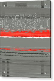 Abstract Red 3 Acrylic Print by Naxart Studio