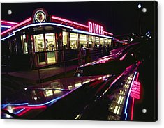 Abstract Reflections In Cars Acrylic Print by Stephen St. John