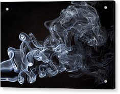 Abstract Smoke Running Horse Acrylic Print by Setsiri Silapasuwanchai