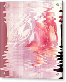 Abstract Vase With Floral Designs Acrylic Print by Anne-Elizabeth Whiteway