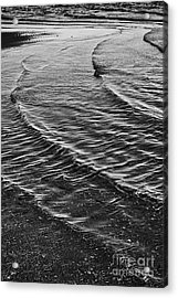 Abstract Waves - Black And White Acrylic Print by Hideaki Sakurai