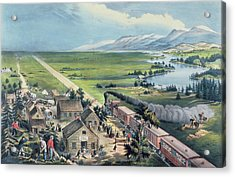 Across The Continent Acrylic Print by Currier and Ives