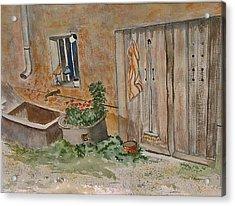 Adeline's Door Acrylic Print by Heidi Patricio-Nadon