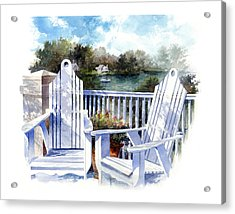 Adirondack Chairs Too Acrylic Print by Andrew King