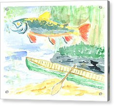 Adirondack Dreaming Acrylic Print by David Crowell