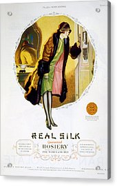 Advertisement For Real Silk Brand Acrylic Print by Everett
