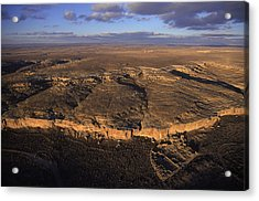 Aerial View Of Chaco Canyon And Ruins Acrylic Print by Ira Block