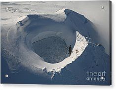 Aerial View Of Frozen Lake In Summit Acrylic Print by Richard Roscoe