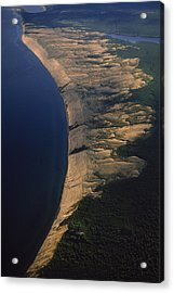 Aerial View Of The Grand Sable Dunes Acrylic Print by Phil Schermeister