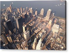 Aerial View Of The Recovery Operation Acrylic Print by Everett