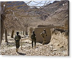 Afghan Commandos Are Guided Acrylic Print by Stocktrek Images