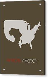 African America Poster Acrylic Print by Naxart Studio