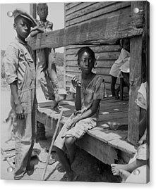 African American Farm Children Acrylic Print by Everett