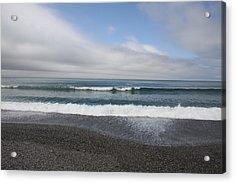 Agate Beach Surf Acrylic Print by Michael Picco