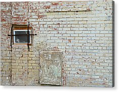 Aged Brick Wall With Character Acrylic Print by Nikki Marie Smith