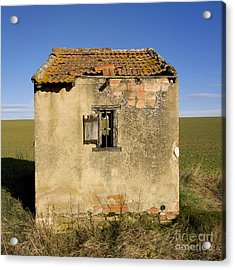 Aged Hut In Auvergne. France Acrylic Print by Bernard Jaubert