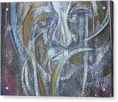 Agony On The Road Acrylic Print by Andrius Kilgour
