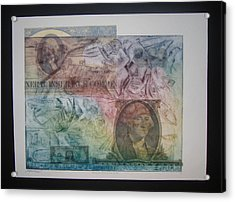 Aig The Dollar And George Compared Acrylic Print by John  Schwind