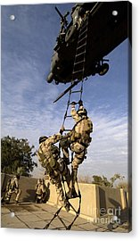 Air Force Pararescuemen Are Extracted Acrylic Print by Stocktrek Images