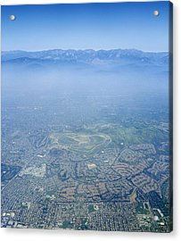 Air Pollution Over Los Angeles Acrylic Print by Detlev Van Ravenswaay