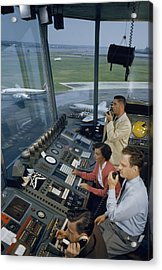 Air Traffic Controllers Direct Traffic Acrylic Print by David Boyer