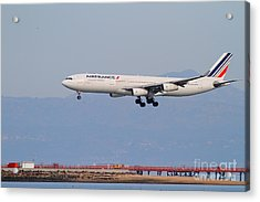 Airfrance Airlines Jet Airplane At San Francisco International Airport Sfo . 7d12219 Acrylic Print by Wingsdomain Art and Photography