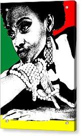 Aisha Jamaica Acrylic Print by Naxart Studio
