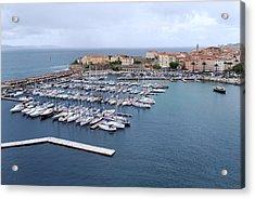 Ajaccio Harbour. Acrylic Print by Terence Davis