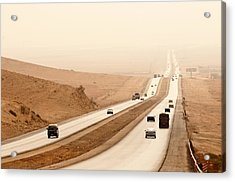 Al Mafraq Desert, Jordan Acrylic Print by Jim Foley