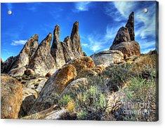 Alabama Hills Granite Fingers Acrylic Print by Bob Christopher