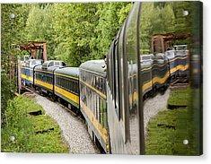 Alaska Railroad Four Acrylic Print by Josh Whalen