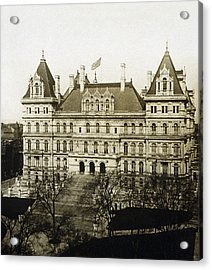Albany New York - State Capitol Building - C 1900 Acrylic Print by International  Images