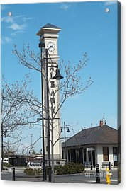 Albany Oregon Train Station Acrylic Print by Melissa Randolph