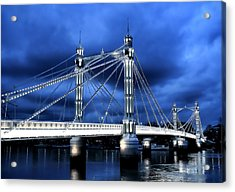 Albert Bridge London Acrylic Print by Jasna Buncic