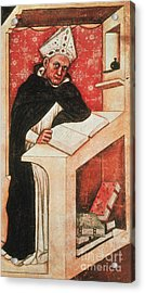 Albertus Magnus, Medieval Philosopher Acrylic Print by Photo Researchers