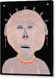 Alien  Lifeform From  Stucco  World  -  One Acrylic Print by Carl Deaville