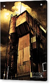Alive And Well In America . The Old Concrete Plant In Berkeley California . Golden . 7d13967 Acrylic Print by Wingsdomain Art and Photography