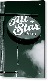 All Star Lanes Acrylic Print by Jez C Self