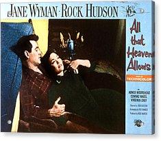 All That Heaven Allows, Rock Hudson Acrylic Print by Everett