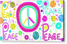 All The Peace Acrylic Print by Rosana Ortiz