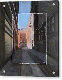 Alley Front Street Layered Acrylic Print by Anita Burgermeister