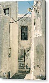 alley in Greece Acrylic Print by Joana Kruse