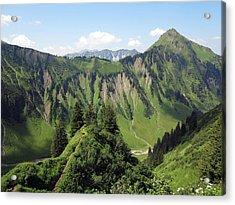 Allgäu Alps Near Oberstdorf, Bavaria Acrylic Print by Hans-Peter Merten