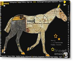 Alphabet Horse Juvenile Licensing Art Acrylic Print by Anahi DeCanio