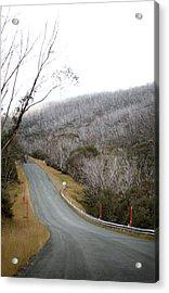 Alpine Way Road Near Thredbo Australia Acrylic Print by Virginia Star