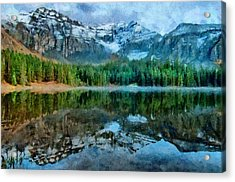 Alta Lakes Reflection Acrylic Print by Jeff Kolker