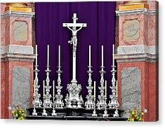 Altar Dresdener Hofkirche Acrylic Print by Christine Till